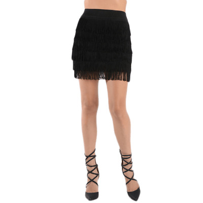 Cutie Fringe Flapper Mini Skirt