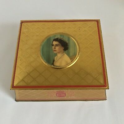 Vintage Collectable Mc. Vitie & Price Ltd. Coronation Souvenir Tin Box June 1953