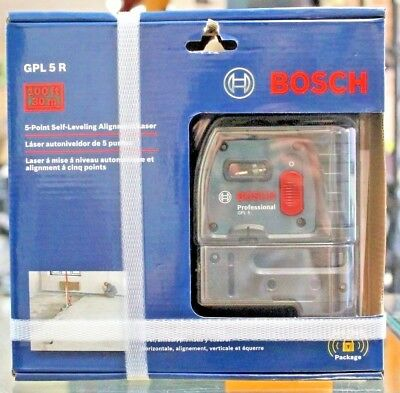 NEW Bosch gpl 5 r 5-point self-leveling alignment laser