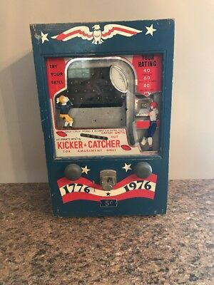 Vintage Coin Operated Jf Frantz Kicker & Catcher Trade Simulator Rare Football