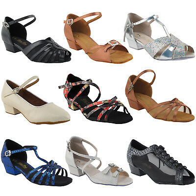 "~50 SHADES~ 1"" Low Practice Heel Dance Dress Shoes Collection-III by Party Party"