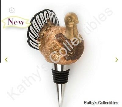 Authentic Mackenzie Childs    Autumn Harvest Turkey Bottle Stopper  New