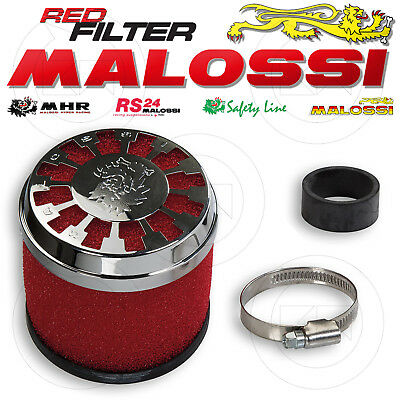 Malossi 0411729 Filtro Aria Red Filter E13 Ø32 / 38 Dritto Carburatore Phbg 21