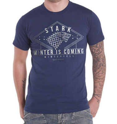 Official Game of Thrones - Stark Winter Unisex Tshirt Fantasy Winter is Coming