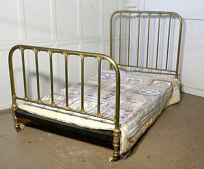 Superb Quality Victorian Brass Large Single Bed