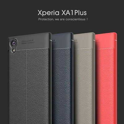 Shockproof Slim Leather Skin Soft Rubber Case Cover For Sony Xperia XA1 Plus XZ