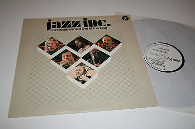 Jazz Incorporated Live at Fasching/Stockholm - caprice Rec. Vinyl 1980