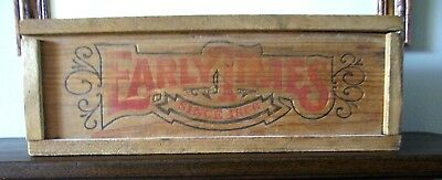 Vintage Early Times Wooden Display Box - Empty