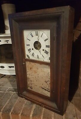 Antique wall clock Seth Thomas's rare vintage