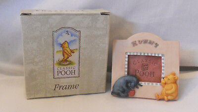 "BRAND NEW ~ Lovely Classic Pooh Collection Hunny Photo Frame ~ 3 ""x 3"""