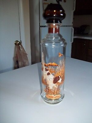 "VINTAGE Cabin Still decanter 1960's  Hunting Dog Approx. 12"" tall"