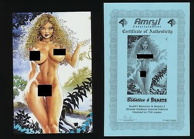 Cavewoman Budds Beauties And Beasts #2 Blonde Medusa Nude Variant! SEE SCANS!