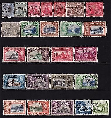 Trinidad and Tobago 1883 to 1960 Collection of Stamps all different