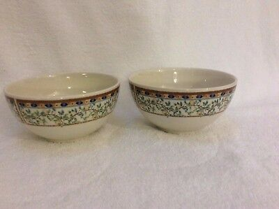 "2 no TESCO/JOHNSON BROS LEMON TREE DEEP BOWLS  6"" DIA  type2"