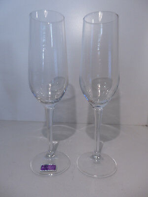 Pair of Waterford Crystal Marquis Tall Champagne Flutes 22.5cm