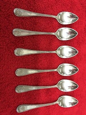 Set Of 6 .800 Silver Alloy Spoons