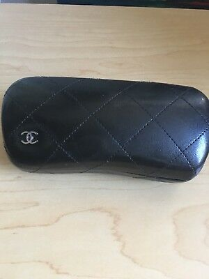 CHANEL Sunglasses Eyewear Case Black Quilted