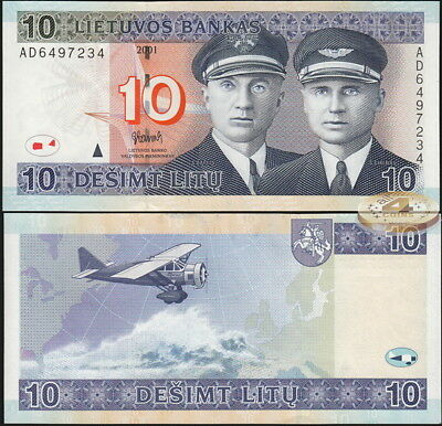 Lithuania. 10 litu. 2001 (Unc) Banknote Cat# P.65