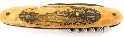 EARLY 1900's ELOSI, GERMANY SOUVENIR FOLDING KNIFE. YARRA RIVER, MELBOURNE.
