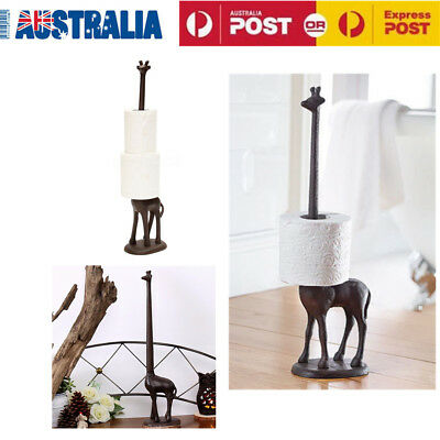 Tissue Roll Holder Metal Giraffe Paper Towel Rack Kitchen Bathroom Toilet Stand