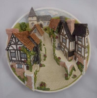 David Winter Cottages Collector Guild Piece Handmade Painted 3 D Plate