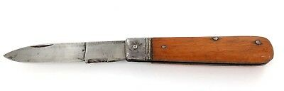 "A Good Quality / Vintage ""Gedore"" Wooden Handle Folding Electricians Knife."
