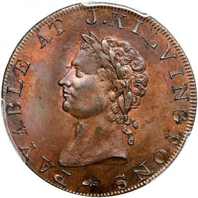 1795 Great Britain Middlesex DH-346 Token Brunswick Halfpenny MS-65 PCGS