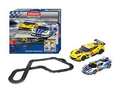 Corvette C7.R & Ferrari 458 GT Carrera Digital 1:32 Slot Car Racing Track Set