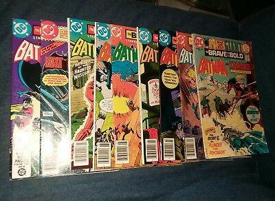 brave and the bold 9 issue comics lot batman uk variants lot run set collection