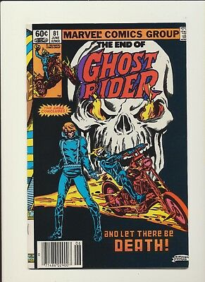 GHOST RIDER #81 (Marvel Comics 1983)! SEE PICS & SCANS! RARE FINAL ISSUE! WOW!