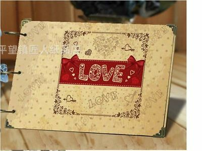 DIY 30Pages 26.8cm x 16.7cm Kraft LOVE Photo Album Wedding Scrapbook