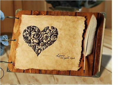 DIY 30Pages 26.8cm x 16.7cm Kraft LOVE LETTER Photo Album Wedding Scrapbook