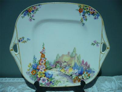 Swinnertons Large Vintage Cake Plate - Old England Gardens - Good Condition