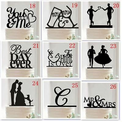 SEND FROM AU - Mr & Mrs Acrylic Cake Topper Wedding Engagement Party Decoration