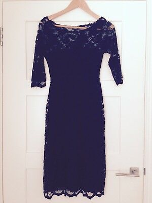 Tiffany Rose, Black, Lace, Size 1 (small), Maternity Evening Dress