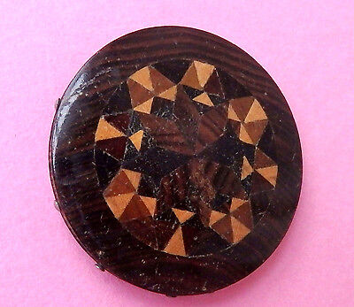 Antique 19Th C, Sewing Tunbridge Marquetry Rosewood  Ware Pin Wheel.