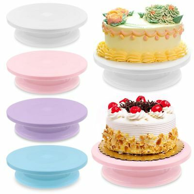 28cm Cake Decorating Rotating Revolving Icing Kitchen Display Turntable Stand AU