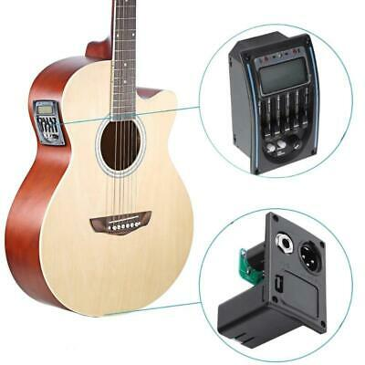 5-Band Acoustic Guitar EQ LC-5 Equalizer Preamp Piezo Pickup Tuner LCD Backlight