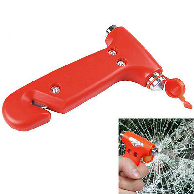 HOT AUTO Emergency Life-Saving Hammer Tool Car Window Seat Safety Belt Cutter