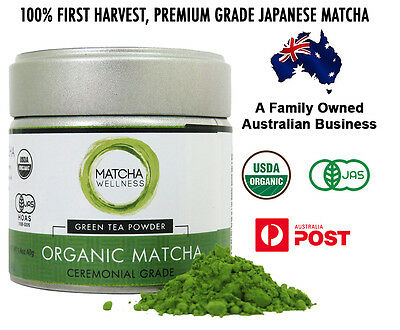 Matcha Green Tea Powder HIGHEST Ceremonial Grade USDA Organic | 40g Uji - Japan