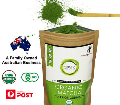 Matcha Green Tea Powder 100g - USDA Organic - Premium Quality From Kyoto Japan