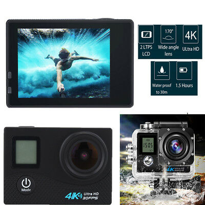 Dual Touch Screen Ultra HD 4K/30fps WIFI Sports Action Camera DVR Camcorder TP