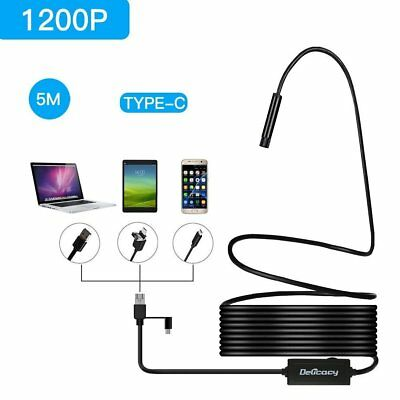 Latest 1200P ! Rigid Endoscope Type C Micro USB Insepction HD Camera For Android