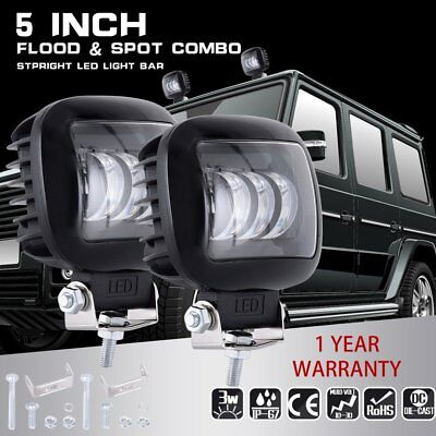 2x 72W ESSGOO Led Work Lights Pods Combo Off-road Lamp For ATV JEEP 5'' Square