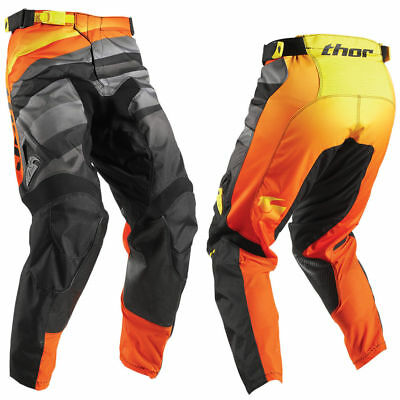 Motocross Hose Schwarz Orange Thor Pulse Vellow Enduro Offroad 30 32 36  !Sale!