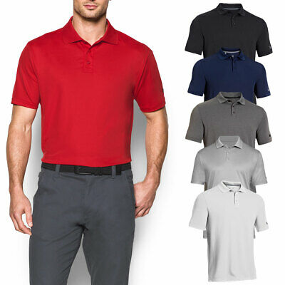1f1683b4 Under Armour Mens Medal Play Performance Polo Shirt UA Golf Short Sleeve