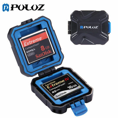 PULUZ SD Memory Card Carry Case Holder Waterproof Storage Pouch Wallet Box TP