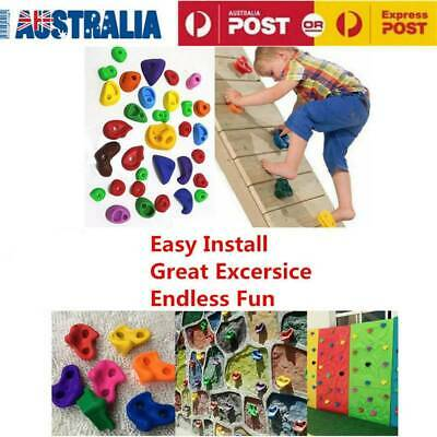 10x Textured Climbing Rock Wall Stones Holds Hand Feet Kids Gift Assorted Kit OZ