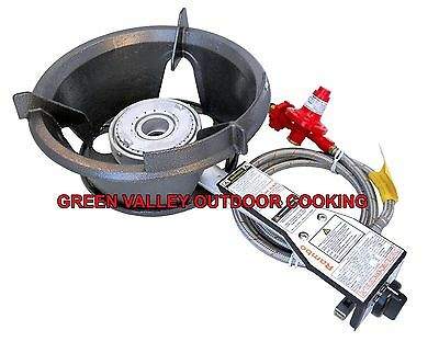 NEW Rambo Safety High Pressure Gas Wok Burner 55MJ HPA100LPB Regulator&Hose
