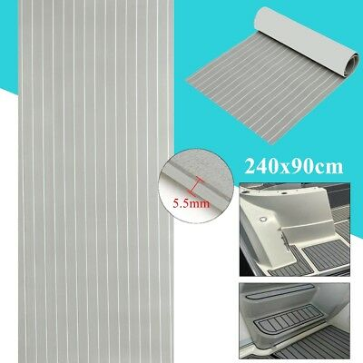 240cmx90cm Boat Flooring Marine Decking Floor EVA Foam Self Adhesive Teak Sheet